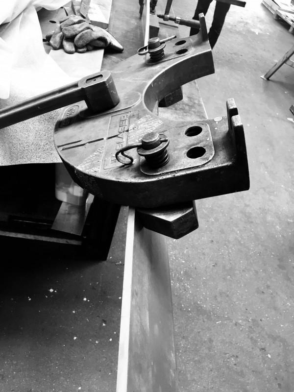 Lamellenwand  - Herstellung der Drehung in der Werksatt
